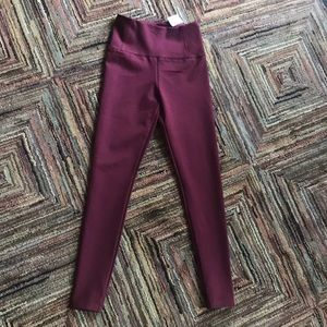 Burgundy High Waisted Legging
